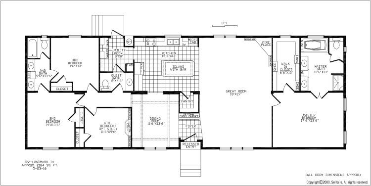 Floorplans For Double Wide Manufactured Homes Solitaire Homes Mobile Home Floor Plans Floor Plans Wide Floor