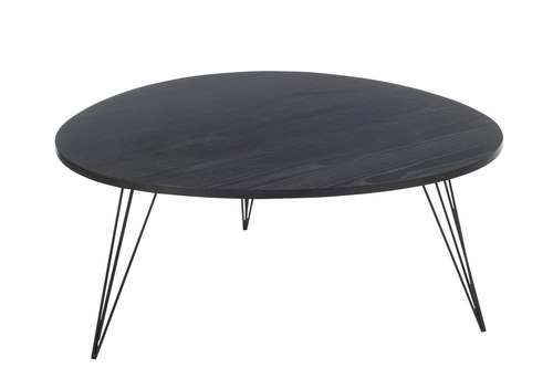 Table Et Drugstore Modern Metal Salon Noir Retro Basse Bois EDIW92HY