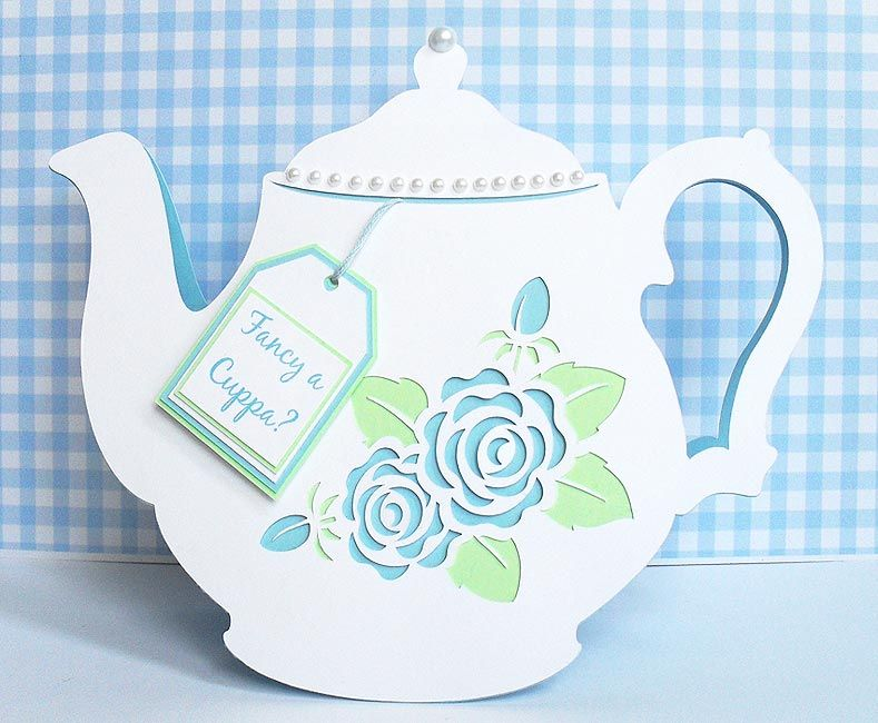 Birds Cards Part 12 Tea Pots Vintage Flower Cards Tea Cup Card