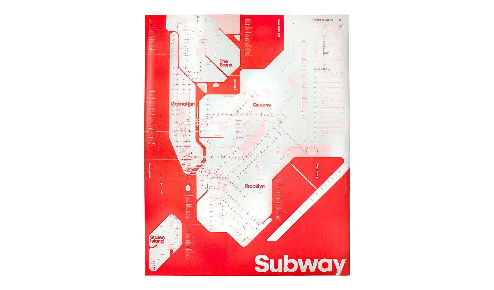 Subway Map Presentation.One Color Subway Map Triboro S Take On New York S Subway System