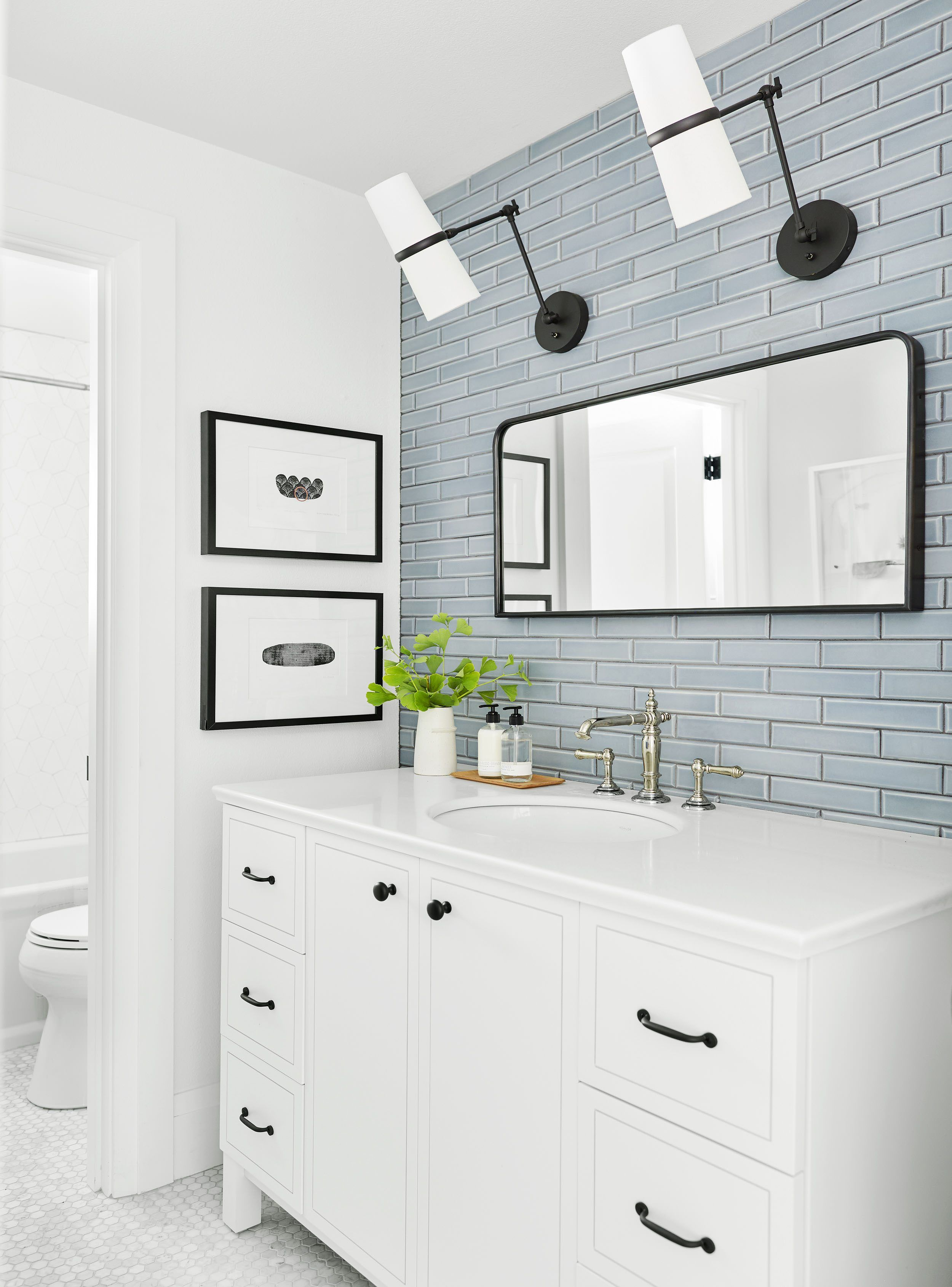 Reveal Alert How I Transformed The Dark Dull Downstairs Guest Bath In The Portland Project With Images Bathroom Trends Bathroom Design Trends Bathroom Design