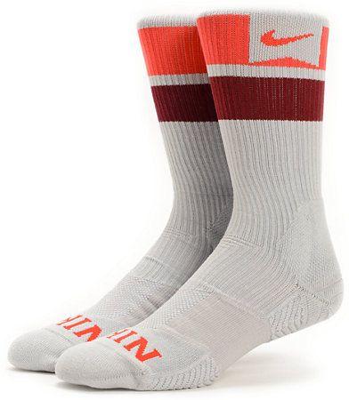 Nike SB Elite Dri Fit Black Striped Crew Socks