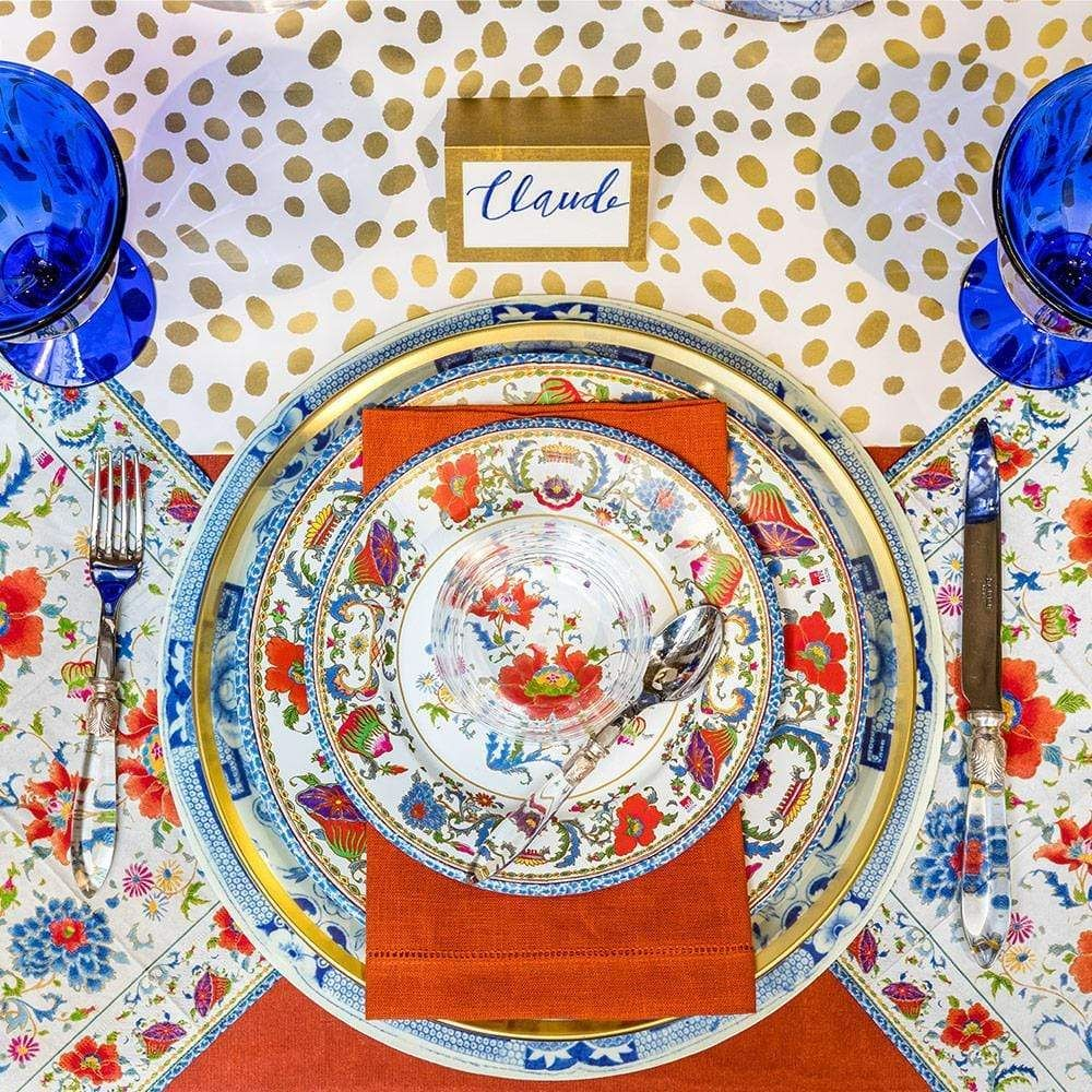 Caspari Eastern Inspiration For Autumn Colorful Table Setting Placemats Beautiful Linens