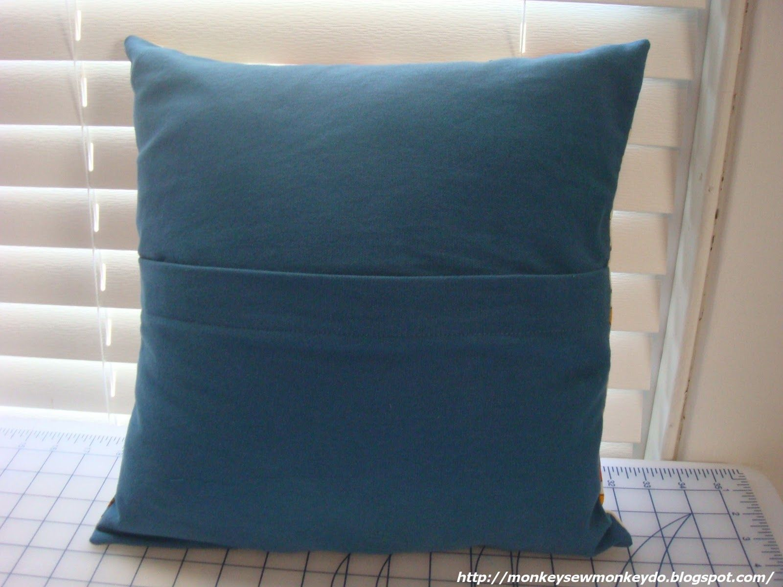 How To Wash Throw Pillows Without Removable Cover Monkey Sew Monkey Do Quick And Easy Removable Pillow Covers