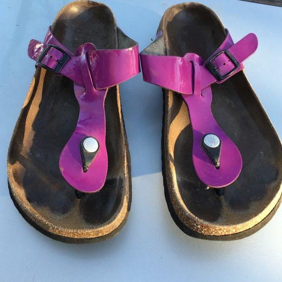 0aa87b6a25d2 BIRKENSTOCK LADIES FUSCHIA SANDALS SIZE 9  40 PREOWNED BIRKENSTOCKS NOT  DAMAGED NICE COLOR SIZE 9 WOMENS Birkenstock Shoes Sandals