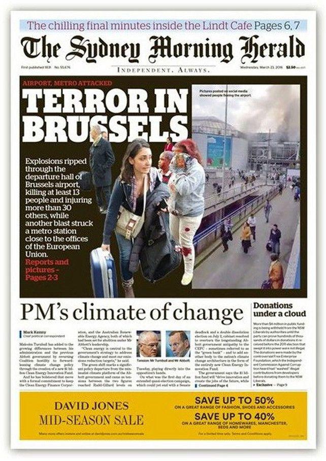 Dit schrijven de internationale kranten over de aanslagen in Brussel   Aanslagen Brussel   De Morgen