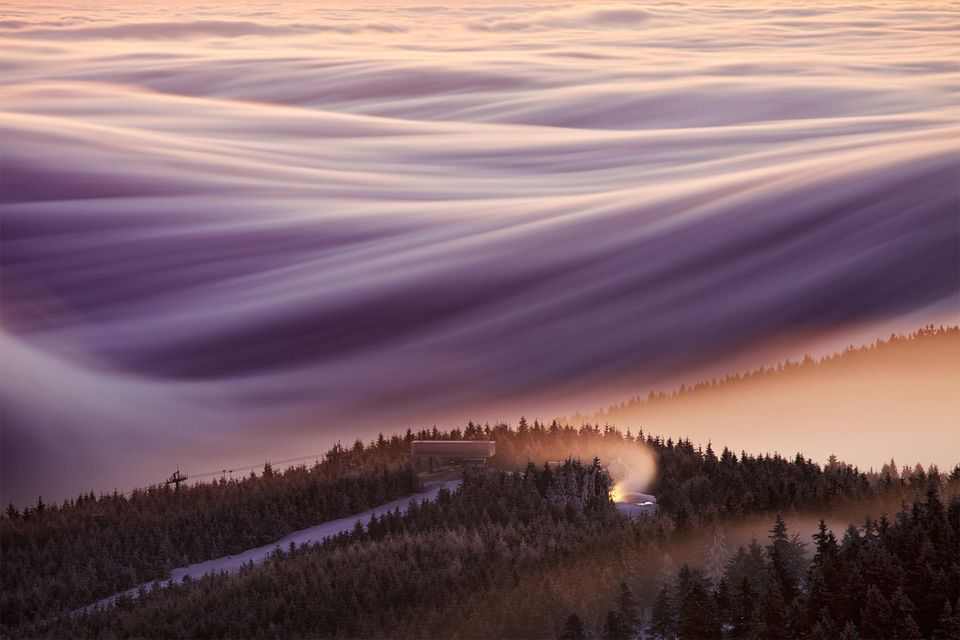magnificent sky over czech republic photo