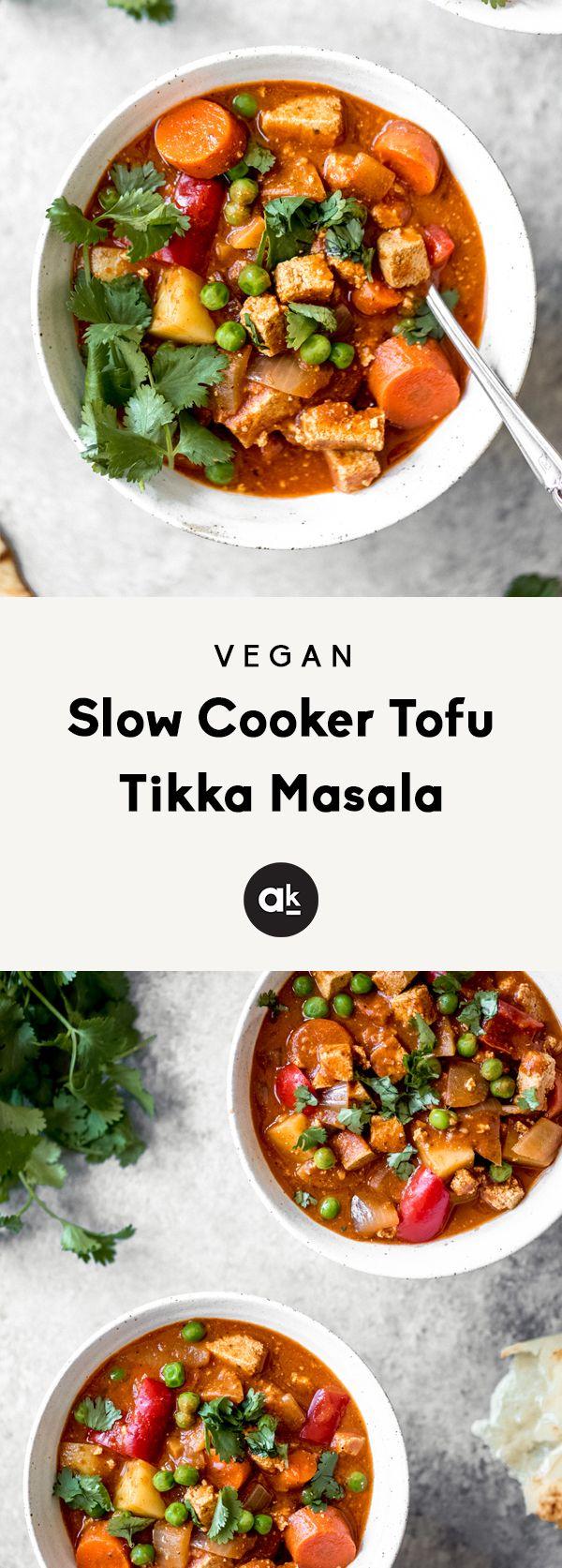 Vegan Slow Cooker Tofu Tikka Masala