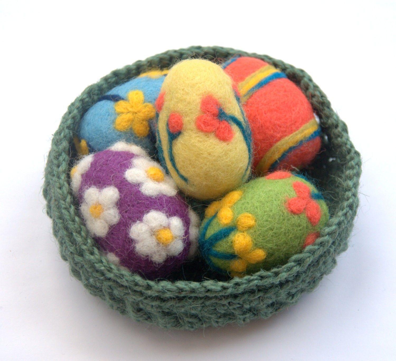 mini egg ornaments wool - Google Search