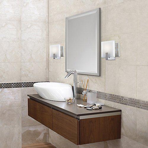 Halstad Mirror By Feiss At Lumens Com Contemporary Bathroom Lighting Vanity Wall Mirror Bathroom Lighting