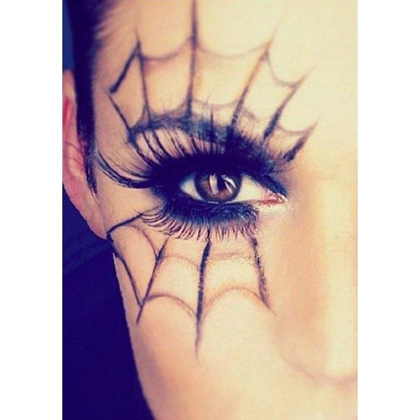 25 Spiderweb-Themed Makeup Ideas That Will Turn Heads on Halloween - halloween makeup ideas easy