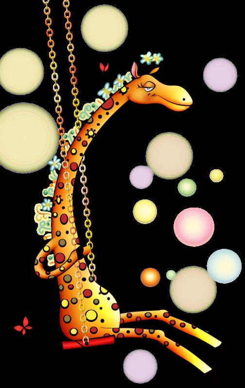 Giraffe On Swing!!