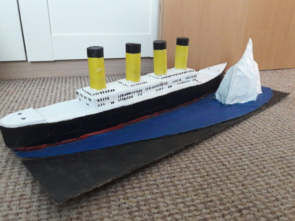 Titanic Model Made From Cardboard Amp Painted For P5 Project