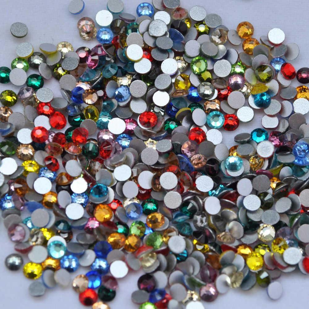 c5178417df 2028 BLING SS8 Mix Couleurs Flatback Cristaux strass (Non Hotfix ...