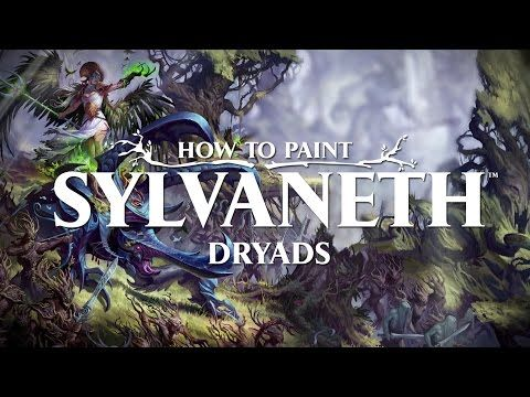 How to paint Sylvaneth: Dryads  - YouTube | Painting Elves
