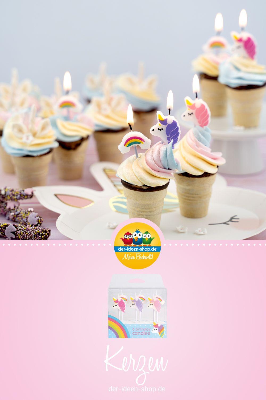 6 Einhorn Kerzen Cupcakes Geburtstagskerze Und Kerzen