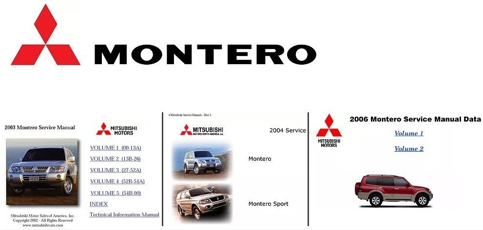 Mitsubishi Montero 2003 2004 2006 Workshop Manuals In 2020 Mitsubishi Manual Mitsubishi Motors