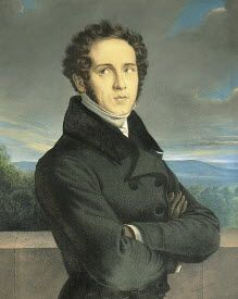 Vincenzo Bellini (1801-1835), painting (1830), by Frédéric Millet (1786-1859).
