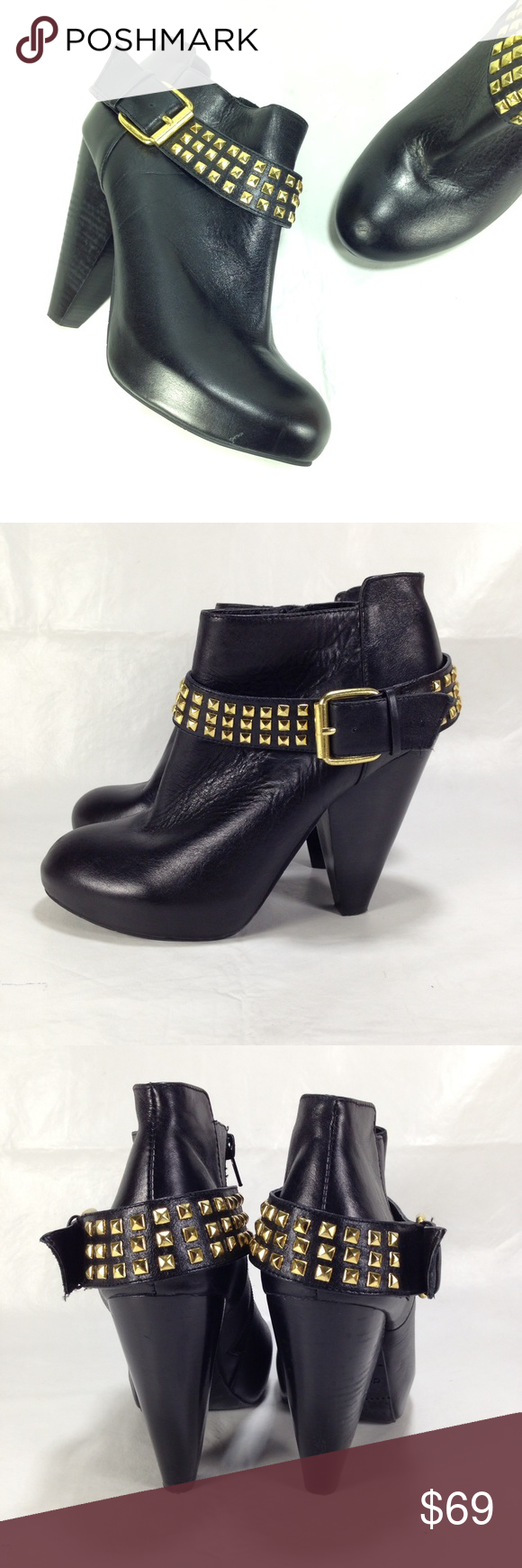 bbc0f3c7644 DV by Dolce Vita 'Wesley' Booties Black leather ankle boots with ...
