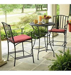 Garden Oasis Wilder Wrought Iron 3 Pc Bistro Set With Images