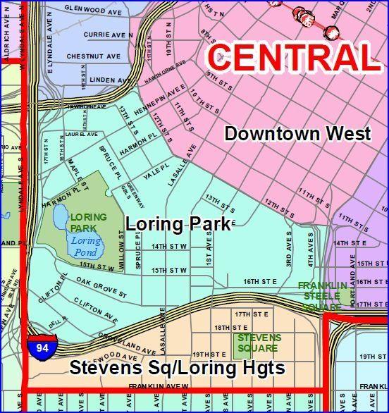 Loring Greenway Minneapolis Map  Twin Cities  Minneapolis