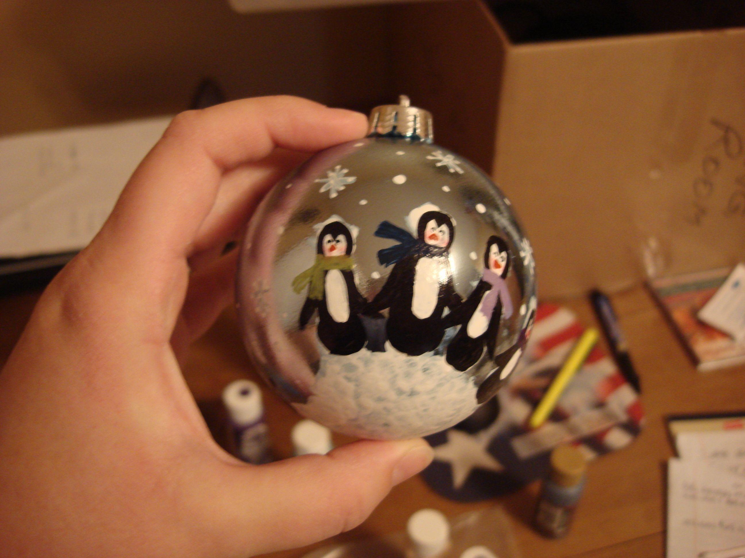 Handprint Penguin Ornament Diy Christmas Ornaments Christmas Diy Christmas Ornaments