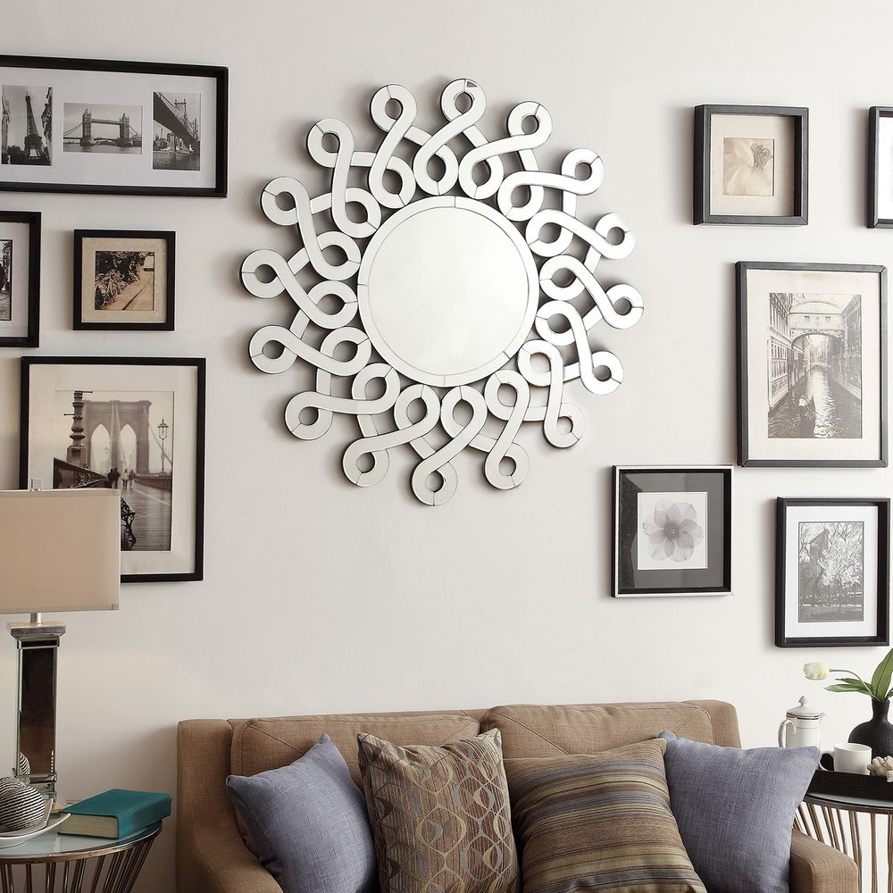 INSPIRE Q Nordica Infiniti Border Silver Finish Accent Wall Mirror |  Overstock Shopping - Great