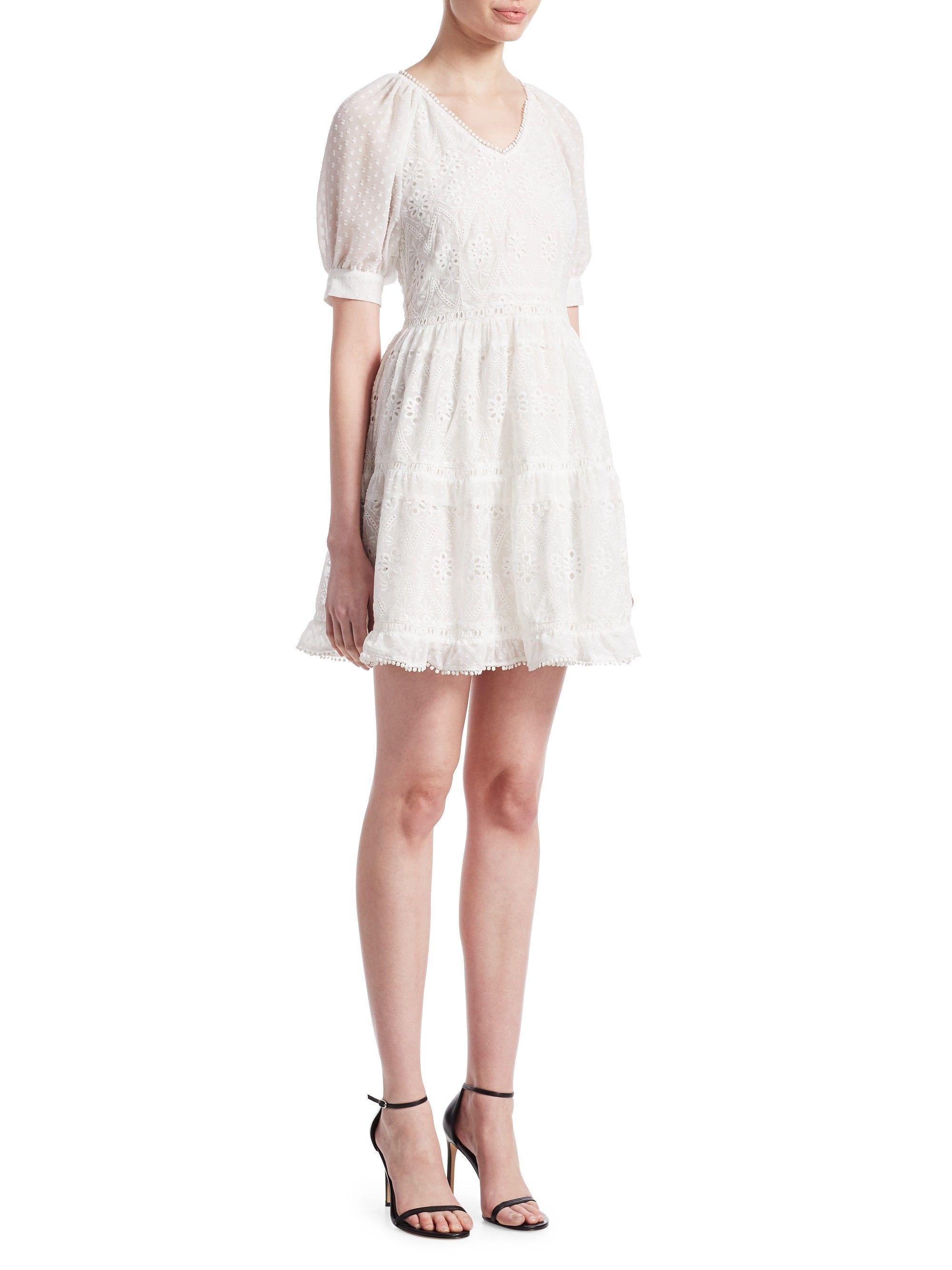 e6741d19c153 Maje Revery Lace Fit- -Flare Dress - Ecru 2 (Medium)