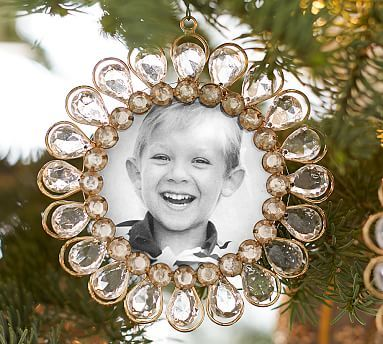 Jeweled Frame Ornament potterybarn  barbarasangi  MORE OF