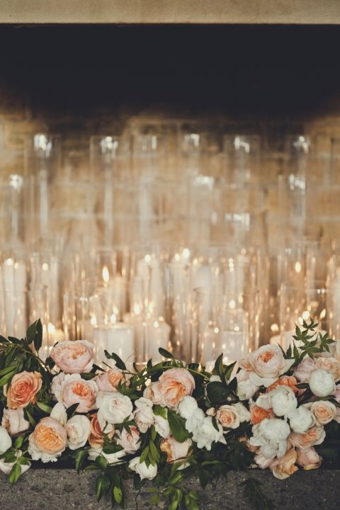 Candles and Florals / Nathan & Tali: Real Wedding / Photographed by Kerri MacKintosh / View full post on The LANE