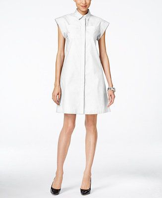 7ae8a2dabaef MICHAEL Michael Kors Short-Sleeve A-Line Shirtdress - Michael Kors Dresses  - Women - Macy s