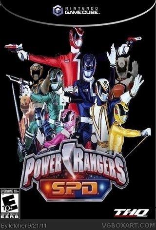 Power Ranger SPD GameCube Box Art Cover by fetcher