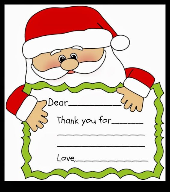 Holidays Santa Printable Thank You Note  Sunshine Santa And Note