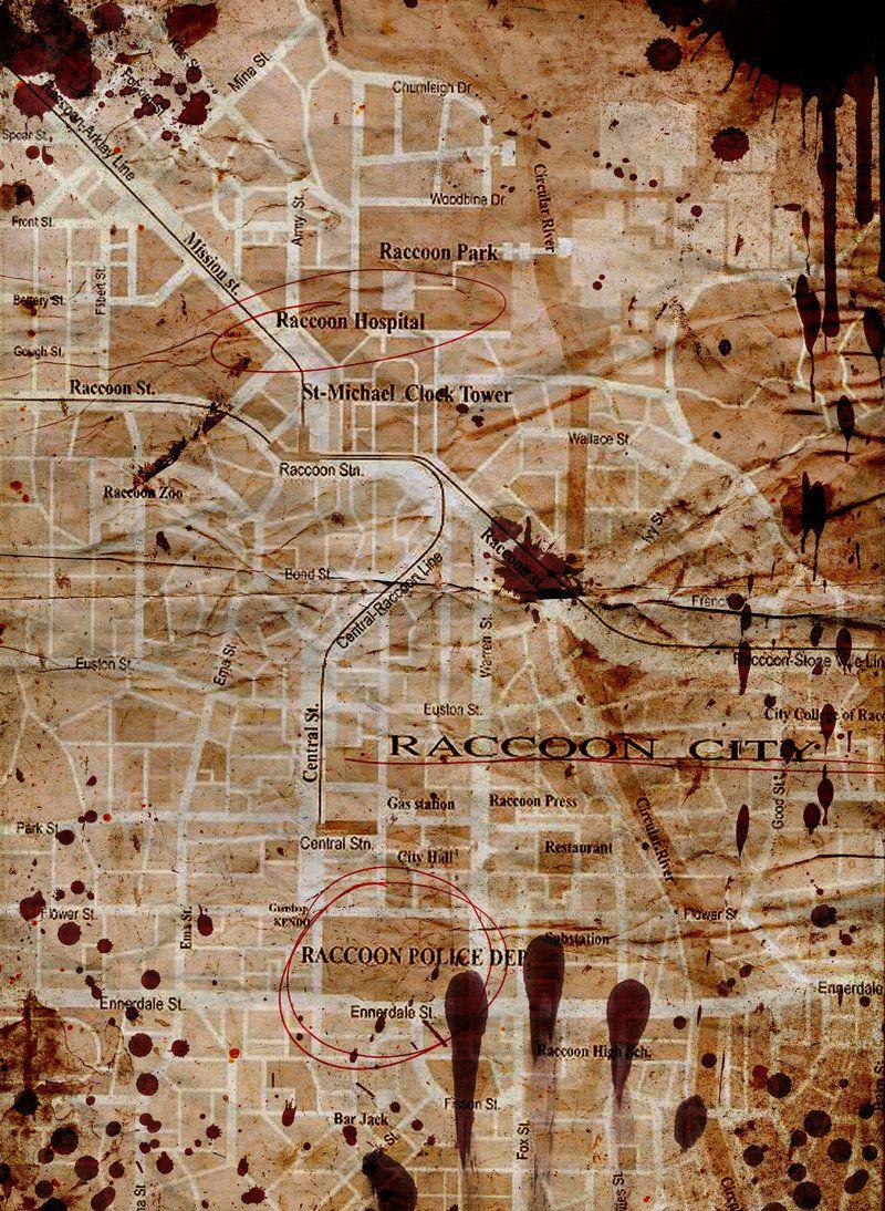 Raccoon City Map By Spiketheswede Deviantart Com On Deviantart