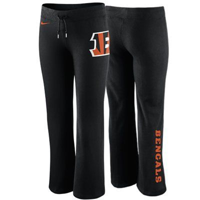 Nike Cincinnati Bengals Ladies Tailgater Fleece Pants - Black ... 93b522502c4a