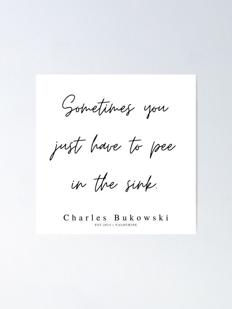 28 | 200310 |  Charles Bukowski Quotes | Minimalist | Line Quote Poster by QuotesGalore