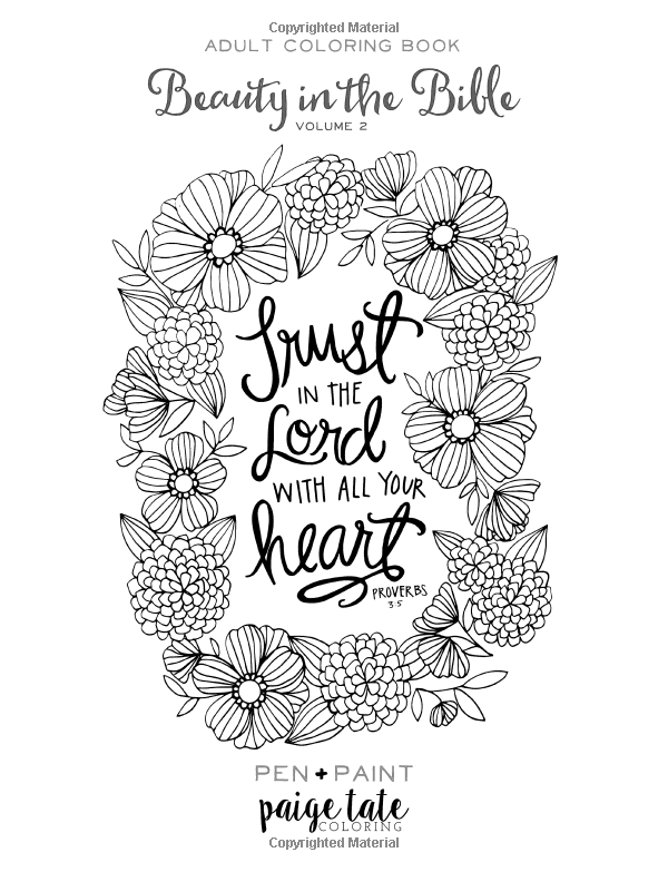Beauty In The Bible Adult Coloring Book Volume 2 Paige Tate Lindsay Hopkins