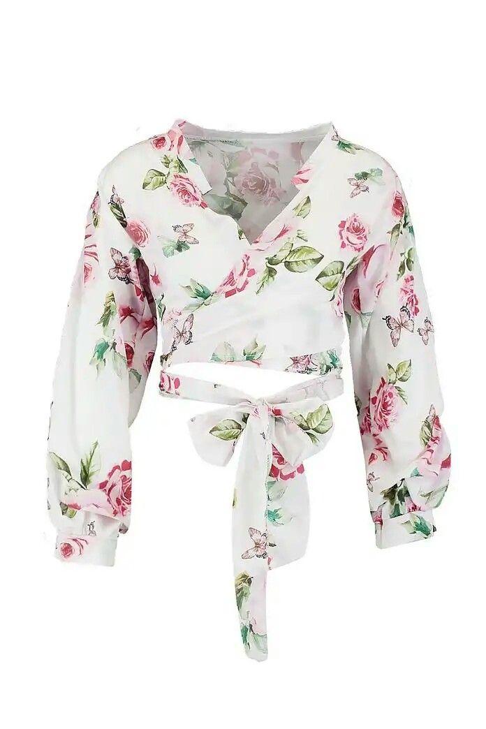 25023022abc660 Boohoo Floral Print Tie Front Bralet