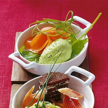 Photo of Avocado mousse with smoked salmon