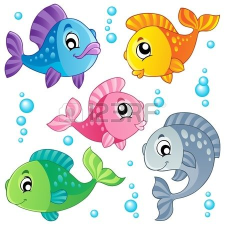 Various Cute Fishes Collection 3 Vector Illustration Cute Fish Fish Illustration Cartoon Fish