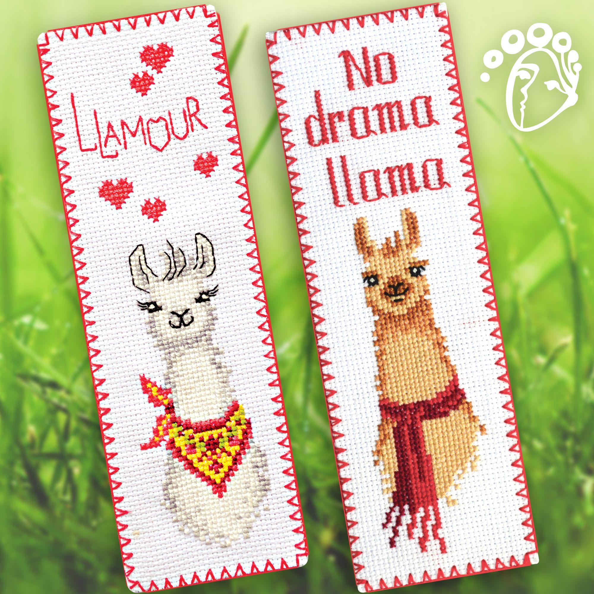 Llama Cross Stitch Bookmark Kit Llamour Beginner Needlepoint Set