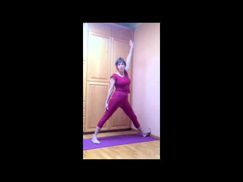 trikonasana triange pose for scoliosis at the wall  youtube