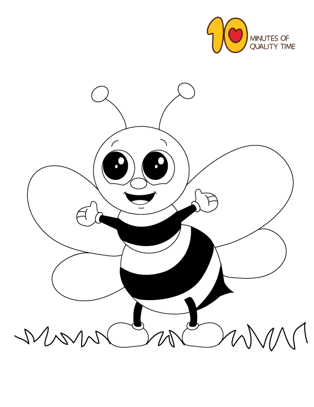 Bee Coloring Page Animal Coloring Pages Bee Coloring Pages Elephant Coloring Page Bee Drawing