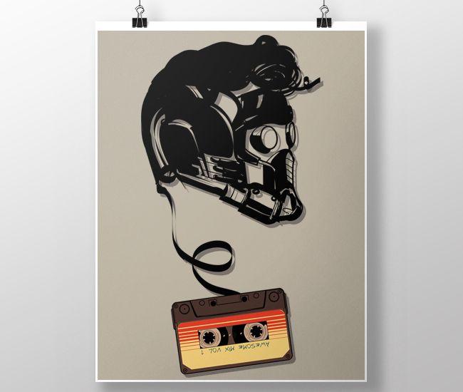 Poster - Ilustração Awesome Mix por Donnie