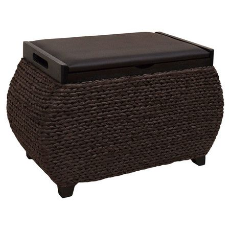 Merveilleux Crafted With Woven Seagrass And Rattan, This Breezy Storage Ottoman Is  Perfect For Keeping Those