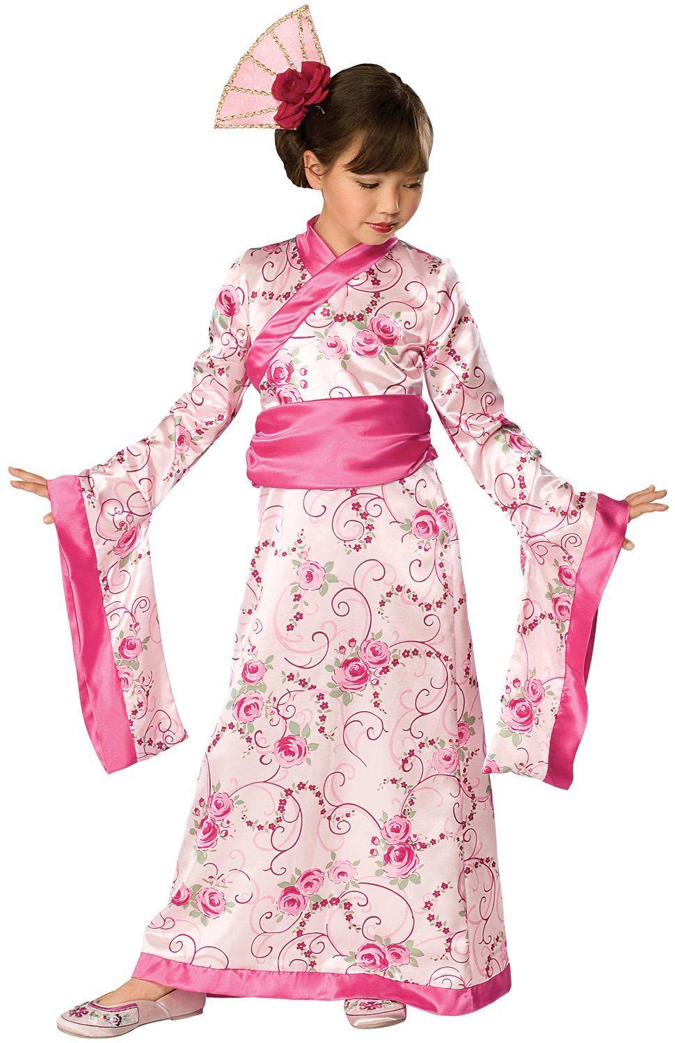 Kid Girl Children Chinese Mulan Princess Halloween Party Fancy Costume Dress Up