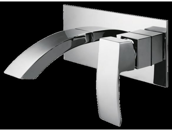 robinet mural contemporain une poign e robinets muraux. Black Bedroom Furniture Sets. Home Design Ideas