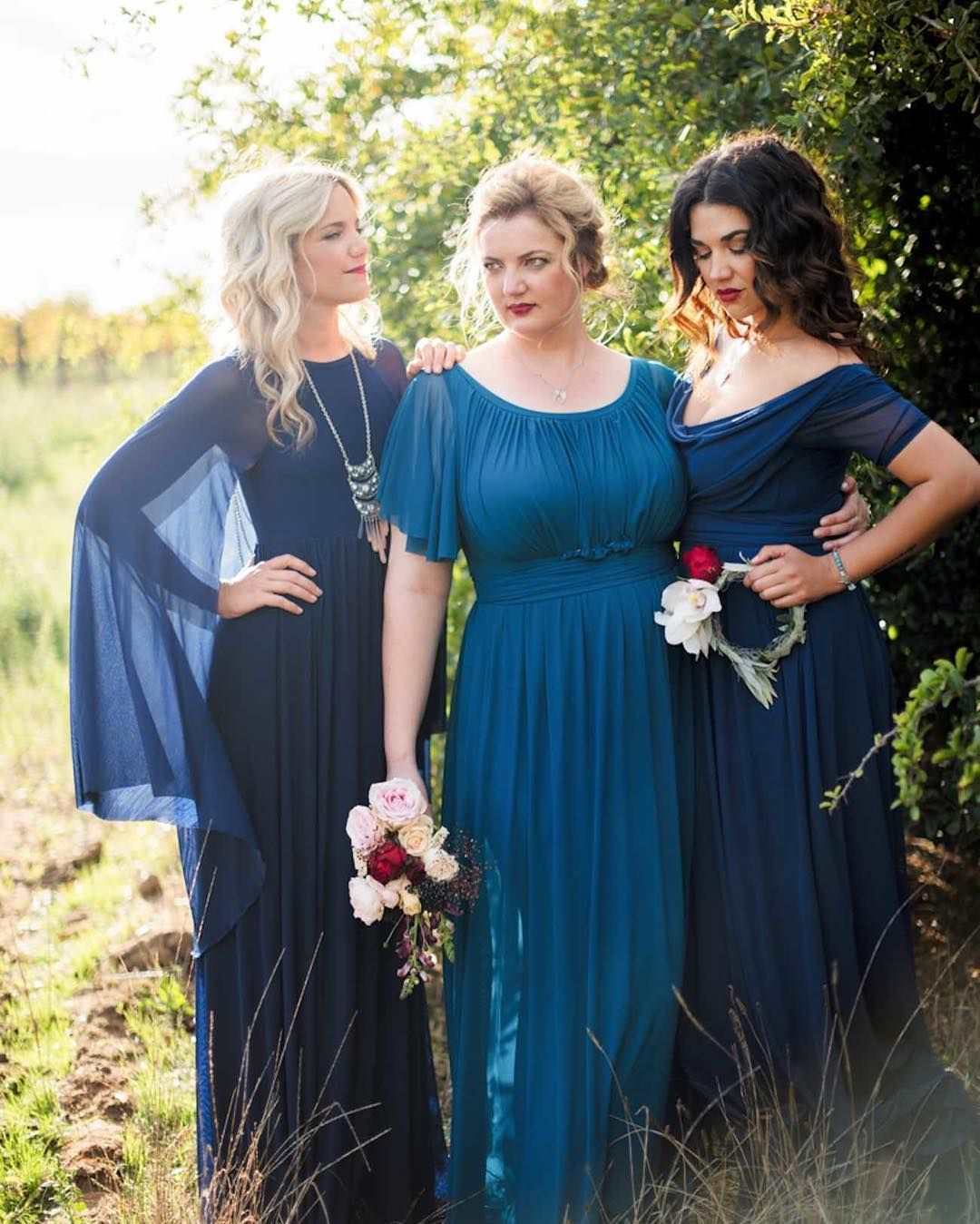 Mix and match winter bridesmaid tip when mixing and matching when mixing and matching bridesmaid looks it helps to bring in a unifying factor amongst the looks for example if the gowns are of different styles ombrellifo Gallery