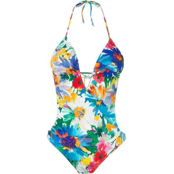 0578e1bcd2bb7 Polo Ralph Lauren Floral Print One Piece Swimsuit ($149) found on Polyvore  featuring women's fashion, swimwear, one-piece swimsuits, multicolour, ...