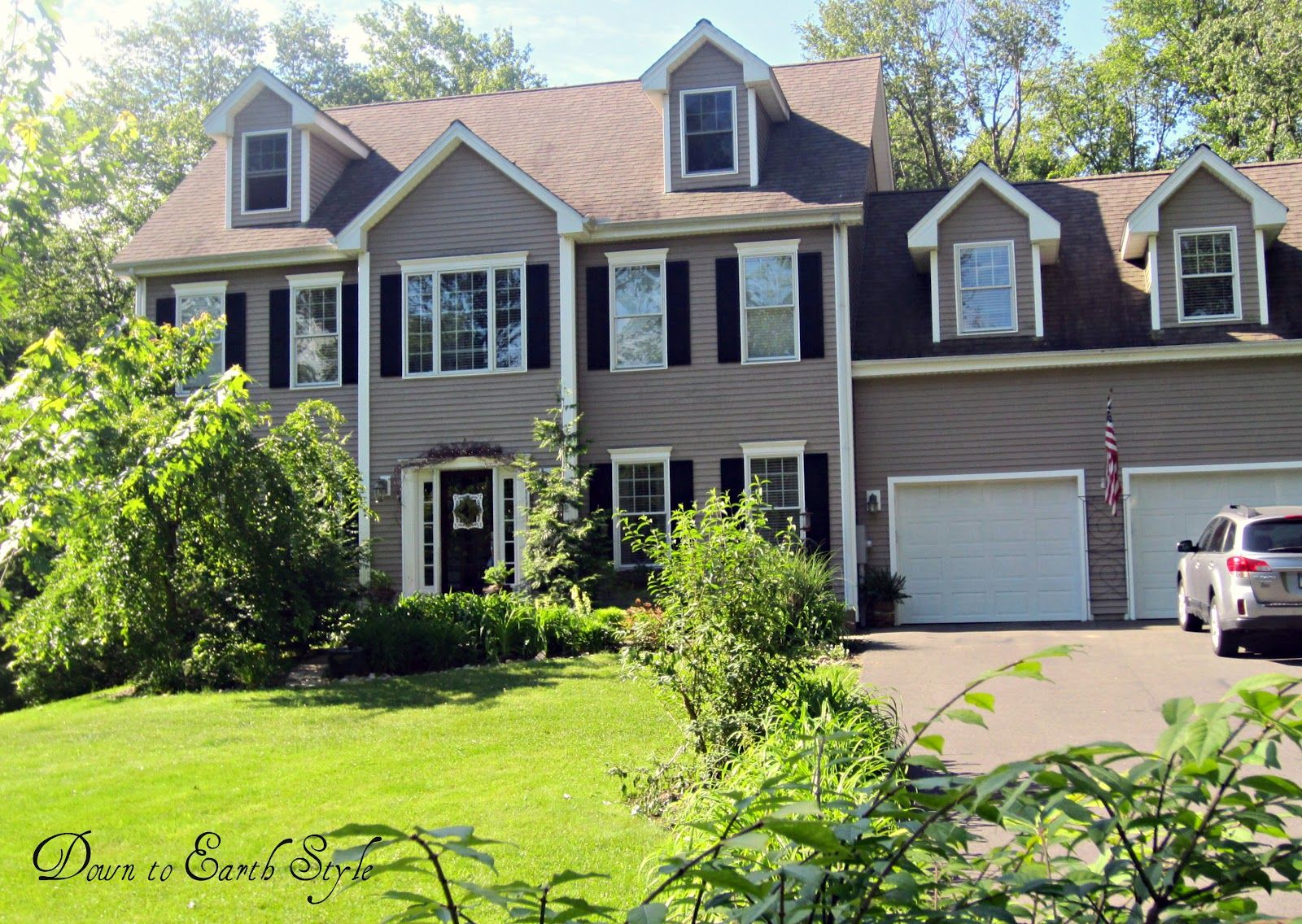 House Tour | Black shutters, Main colors and White trim